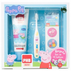 pack-phb-petit-gel-dentifrico-infantil-cepillo-tatuajes-peppa-pig